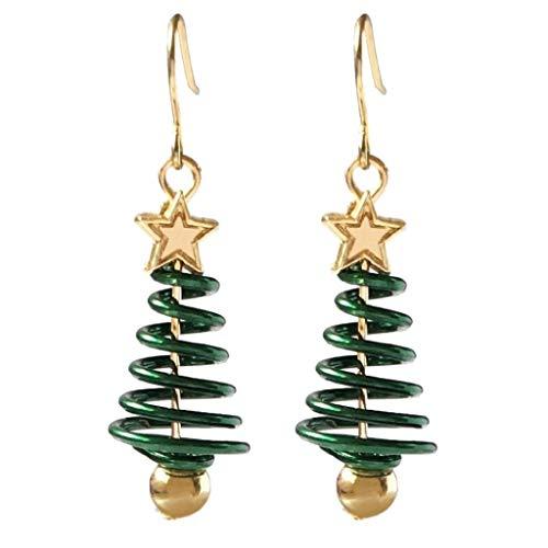 STYLEEA Damen Ohrring Weihnachten Ohrringe Mode Rote Perle Ohrringe Mädchen Geschenke Schmuck Zubehör Ohrhänger Ohrstecker