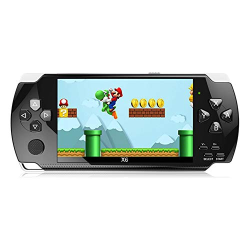 X6 Handheld PSP 4.3-inch Game Console, Built-in More Than 10,000 Free Games, Support Photos can Play MP3 MP4 e-Books, Support TV Connection Display, Support Game Download 8GB Best Gift