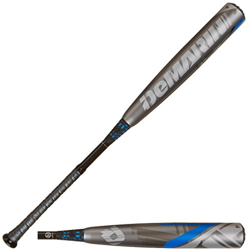 DeMarini 2015 CF7 BBCOR Baseball Bat (-3), Grey/Blue, 34-Inch/31-Ounce