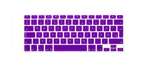 Keyboard Cover Skin Protector Protective Film Silicone Danish Euro Eu For Mac Macbook Pro Air Retina 13 15 17 13.3 15.4-Purple