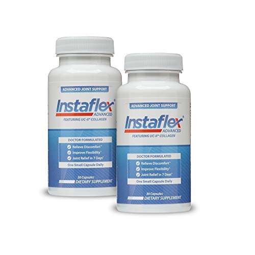 Instaflex Advanced Joint Support - Doctor Formulated Joint Relief Supplement, Featuring UC-II Collagen & 5 Other Joint Discomfort Fighting Ingredients - 2 Pack, 60 Count