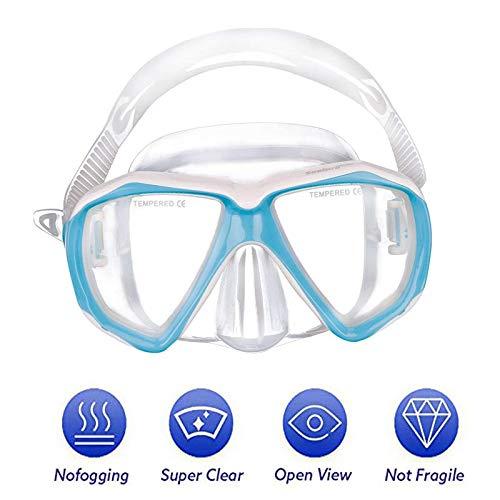 Kinder Schwimmbrille Schnorchelbrille Taucherbrille Mädchen Jungen Sport UV Schutz Tauchmaske Schutzbrillen, Tempered Glas, Verstellbares Silikonband, 5-10 Jahren