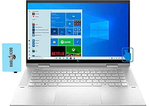 "HP Envy x360 Home & Entertainment 2-in-1 Laptop (Intel i7-1165G7 4-Core, 16GB RAM, 512GB SSD + 32GB Optane, Intel Iris Xe, 15.6"" Touch Full HD (1920x1080), Fingerprint, Win 10 Home) with Hub"