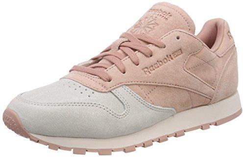 Reebok CL LTHR NBK, Zapatillas de Deporte para Mujer, Rosa (Pale Pink/Chalk Pink 000), 37.5 EU