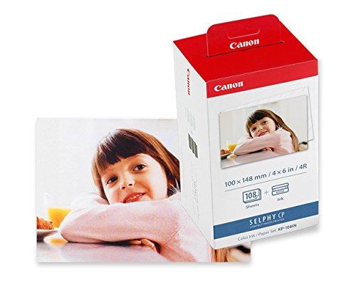 Canon 3115B001(AA) - Papel fotográfico y cartucho de tinta original (108 hojas, 4x6