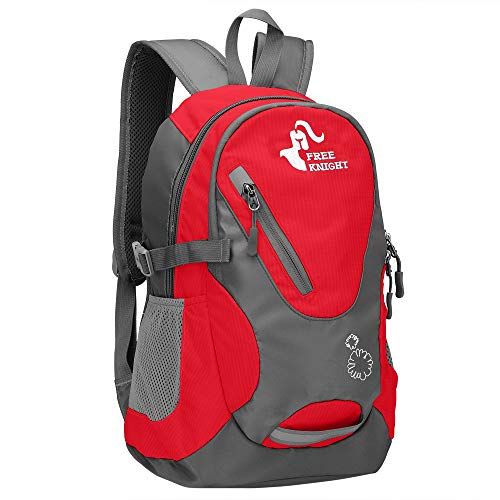 Cycling Hiking Backpack Water Resistant Travel Backpack Lightweight Small size Daypack 20L (Red)