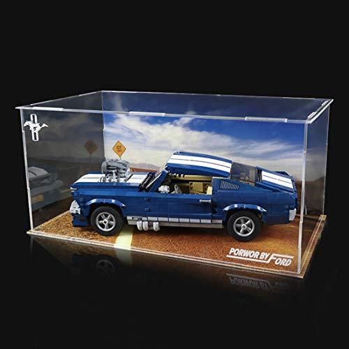 DXX Acryl Schaukasten Vitrine, Schaukasten Acryl Vitrine Display Case für Lego Creator 10265 Ford Mustang 1960 (Ohne Modell)