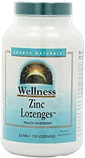 Source Naturals Wellness Zinc Lozenges 23mg, 120 Tablets (2 Pack)