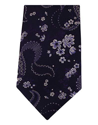 David Van Hagen Cravate florale marine de