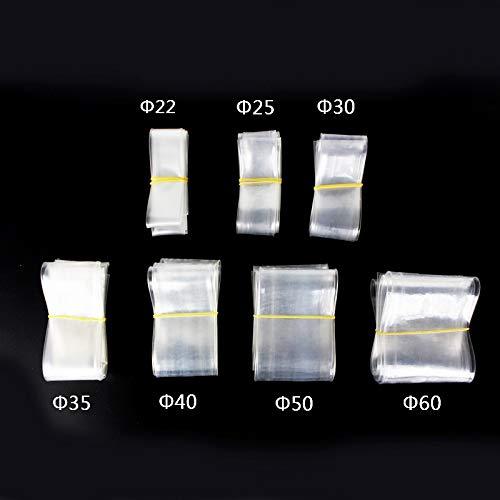 YAYANG Cable Sleeve 1meter / Lot 22MM 25MM 30MM 35MM 40MM 50MM 60MM transparenter freier Schrumpfschlauch Schrumpfschlauch Kabel Sleeve Wrap Draht-Kit Durable (Color : 18MM)