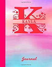 Kayla: Blank Journal - Personalized First Name & Letter Initial Personal Writing Diary   Glossy Pink & Blue Watercolor Effect Cover   Daily Journalism ...   Write about your Life, Goals & Interests
