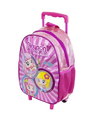 Pinypon - Mochila Infantil con Carro y Ruedas para niños a Partir de 3 años, Color Rosa (Famosa 700016005)