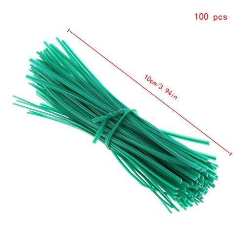 zhiwenCZW 100 pcs de Jardin enduits de câbles de Courroie en Plastique de Courroie de Fil de Torsion Enduit