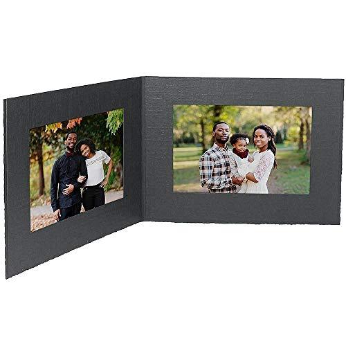Studio Style By Collectors Gallery Cartulina Negra de Papel para fotografía, Doble Marco de 7 x 5 cm, con Borde Liso, se Vende en 25 s – 5 x 7