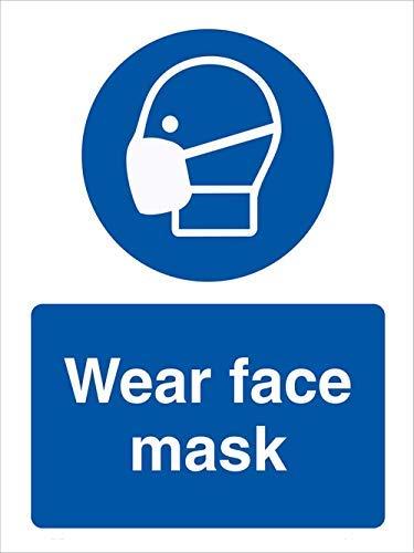 Prevenire COVID-19 cartello di sicurezza Vinly Decal – Stop Coronavirus – Segnale di sicurezza per dispositivi di protezione individuale, cartello di sicurezza previene COVID-19 (10'' x 13'')