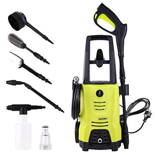 Sale!! KIKBLW Car Washer High Pressure Cleaner, 1400W 110 Bar Spray Gun Detergent Bottle Turbo Water...