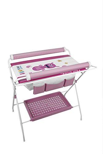 Plastimyr Bañera Flexible + Cambiador Bebes PLASTIMONS Rosa