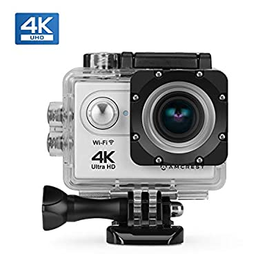 Amcrest GO 4K Action Camera 60fps, Elite 16MP@60fps Underwater Waterproof Camera with 170° Wide Angle, WiFi Sports Cam with Remote 1 x Battery and Mounting Accessories Kit, AC4K-600 from Amcrest