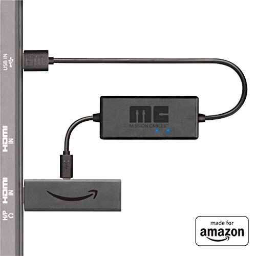 Mission Cables MC45 - Cable USB de corriente para el Amazon Fire TV, color negro