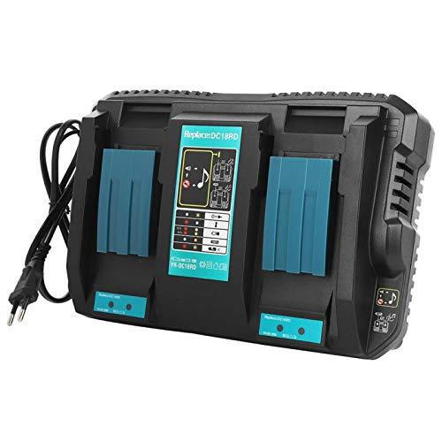 Cargador de batería, cargador de batería de iones de litio doble, diseño de puerto dual(European standard 110-230V)