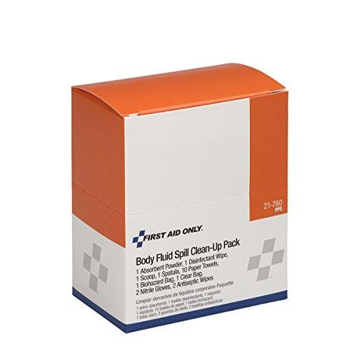 OSHA First Aid Only 20 Piece Bloodborne Pathogen (BBP) Spill Clean-Up Pack 20 Piece