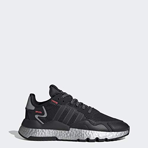 adidas Originals Damen Nite Jogger W, Core Black/Shock Red/Silver Met, 37.5 EU