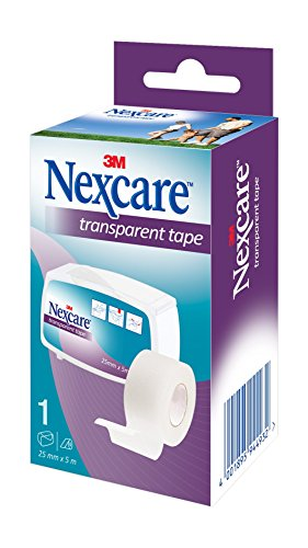 Nexcare N1540-1D Transparentes Fixierpflaster, latexfrei, 25 mm x 5 m