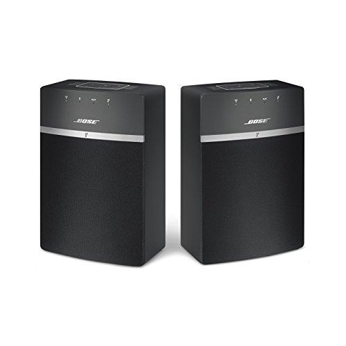 Bose® SoundTouch 10 - Pack de iniciación de transmisión inalámbrica (Bluetooth, WiFi, Stereo 2.0), Color Negro
