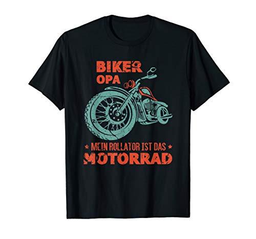 Herren Mein Rollator ist das Motorrad Lustig Biker Opa T-Shirt