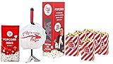 Set de iniciación original de palomitas de maíz, 500 g de maíz, 5 bolsas de palomitas de maíz, juego de cine en casa para desempaquetar y empezar
