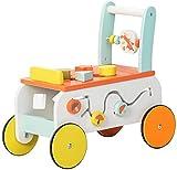 labebe Andador de bebé de madera, diseño de zorro, 2 en 1, juguete de...