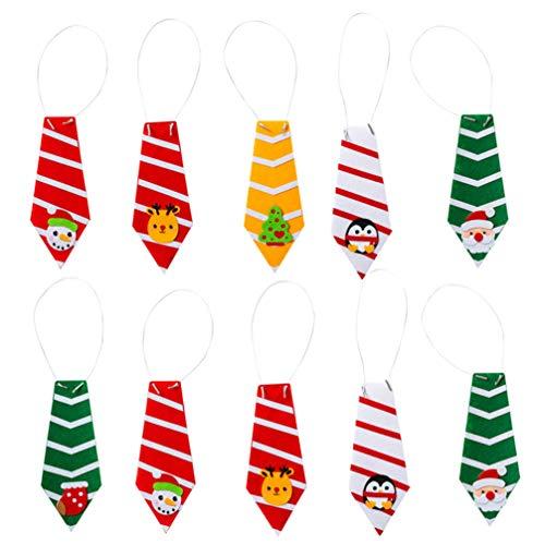 Amosfun 10 piezas diy fieltro navidad diy fieltro bolsa de material kit de costura para niños festival regalo (estilo mixto)