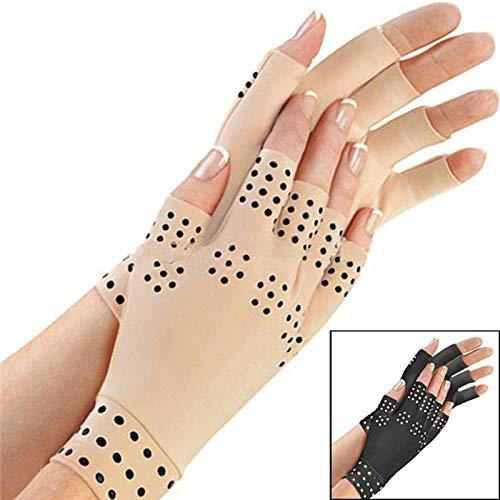 TOOGOO Magnetische Anti Arthritis Gesundheit Kompressions Therapie Handschuhe Fingerlose Handschuhe Gesundheit Handschuhe - Schwarz