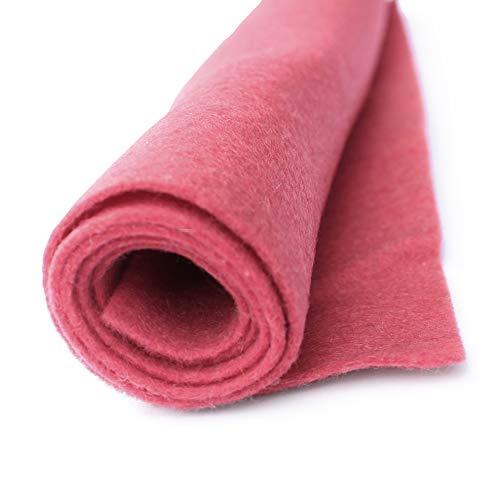 Adobe Dreams - Deep Mauve Pink - Red - Wool Felt Giant Sheet - 35% Wool Blend - 1 36x36 inch XXL Sheet