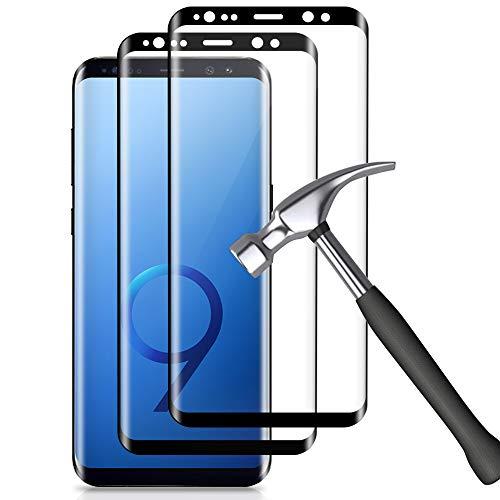 Carantee Panzerglas Schutzfolie für Samsung Galaxy S9, [2 Stück] [9H Härte] [Anti-Fingerabdruck] [Keine Blasen] [Anti-Kratzen] [Ultra Klar], 3D Gebogene Displayschutzfolie für Samsung S9