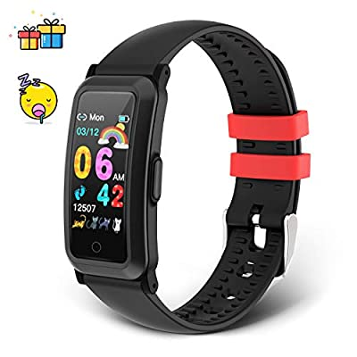moreFit Kids Fitness Tracker Watch, New Upgraded Swimproof Activity Tracker for Boys & Girls, IP68 Waterproof Fitness Activity Watch with Heart Rate Monitor, Sleep Monitor, Great for Age 6+