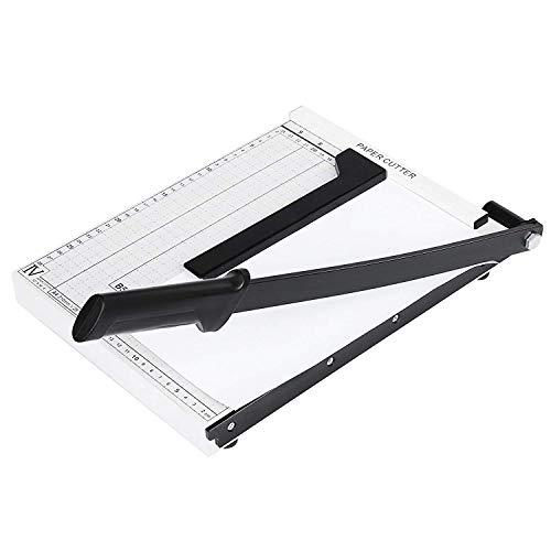Lichire Papierschneidemaschine 320 mm, 10 Blatt, A4 Positionierhilfe, Fotoschneider für Gutschein, Bastelpapier, Etikett und Foto, Weiß