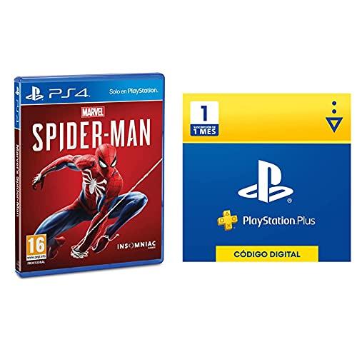 Playstation Marvel's Spider-Man (PS4) + Sony Plus Suscripción 1 Mes | PS5/PS4/PS3 | Código de descarga PSN Cuenta española
