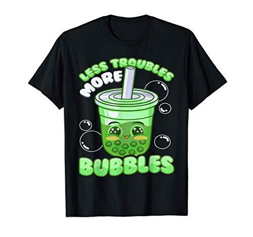 Té de burbuja Boba Kawaii Emoticon Troubles Camiseta