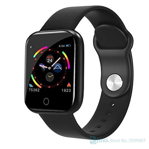 QWERTYU Mode RVS Smart Horloge Vrouwen Mannen Elektronica Sport Polshorloge Voor Android IOS Vierkant Smartwatch Smart Klok Uren LIJIANME, I5 balck staal