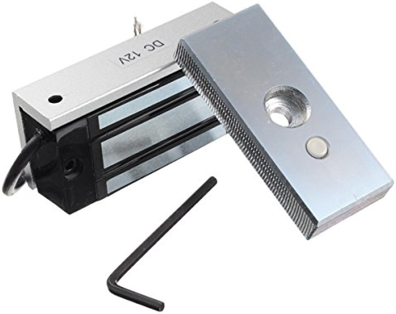 Wuchance DC 12V 60kg Sichtbare InsGrößetion Türschrank Magnetschloss Zugangskontrollsystem