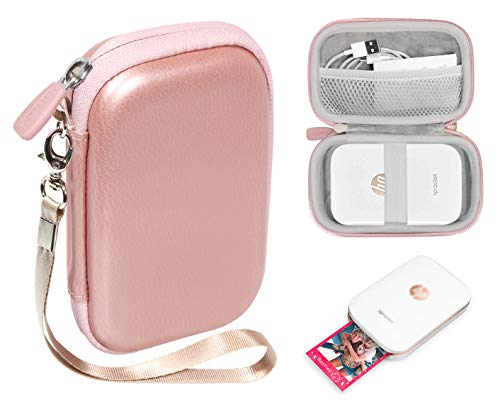 CaseSack Portable Photo Printer Case for HP Sprocket Portable Photo Printer, Polaroid Snap Touch, Zip Mobile Printer, Lifeprint 2x3 Photo and Video Printer, Mesh Pocket for Photo Paper and Cable