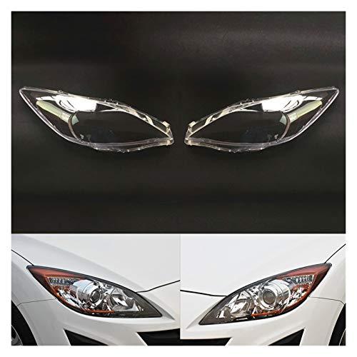 LCZ Lcbiao®. Autoscheinwerferlinse Fit für Mazda 3 Geschwindigkeit Transparent Auto Scheinwerfer Scheinwerferlinse Auto Shell Cover (Color : A Pair)