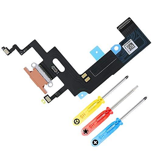 MMOBIEL Conector Dock de Carga de Reemplazo Compatible con iPhone XR 6.1 pulg. (Coral), Incl. Destornilladores