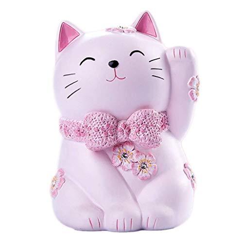 JJZXT Kitten Hucha-Linda Alcancía, niños Money Bank, for niños y niñas Regalos, decoración de Escritorio (Size : 20CM)