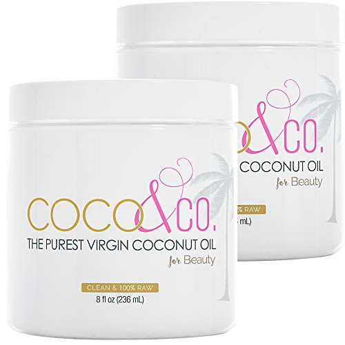 COCO & CO. Organic Pure Extra Virgin Coconut Oil for Hair & Skin, Beauty Grade