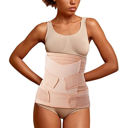 Aigori 3 en 1 Faja Postparto Reductora Mujer Recuperación después del Parto, Cinturón cómoda de Vientre/Cintura/Pelvis para Mujer y Maternidad