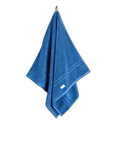 GANT Toalla orgánica prémium, color azul, tamaño 50 x 100 cm