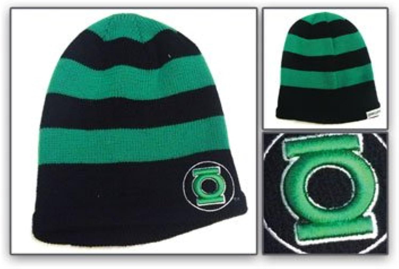 Beanie Cap - DC Comics - New Green Lantern Green Black Stripe Hat kc149993dco