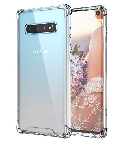 Cutebe Case for Galaxy S10,Shockproof Series Hard PC+ TPU Bumper Protective Case for Samsung Galaxy S10 6.1 Inch 2019 Release Crystal